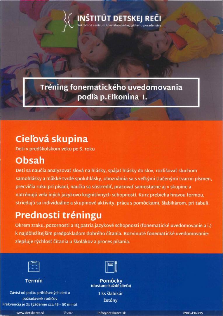 Tréning fonematického uvedomovania podľa Eľkonina